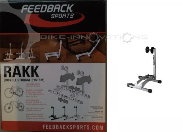 Feedback Sports Rakk Austellungsständer Ständer Fahrrad- Hinterradständer silber
