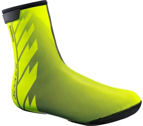 Shimano 3100R NPU+ Shoe Cover Neon Yellow Überschuh unisex Rennrad wasserdicht Winter