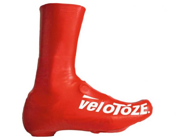 VELOTOZE Shoe Cover Überschuh lang rot Gr. XL 46,5 - 49 T-RED-002-XL