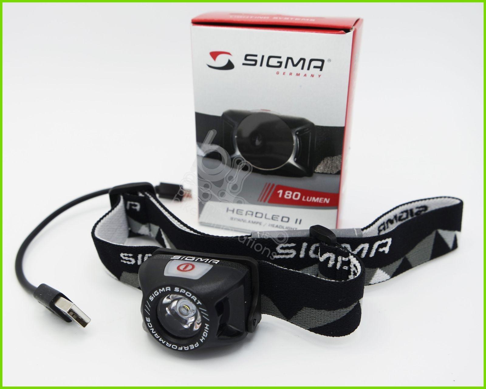 Sigma Sport Headled II USB-Stirnlampe 18850 mit Lithium-Ionen Akku